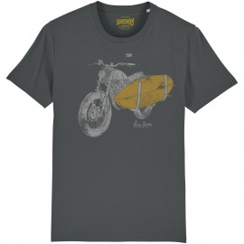 CAMISETA MOTO 3 SURF GREY CHARCOAL