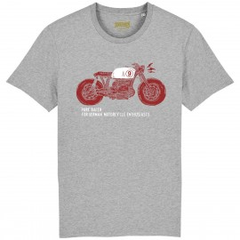CAMISETA MOTO 1 BURGUNDY-GREY