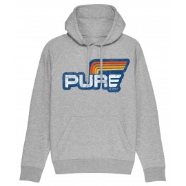 SUDADERA CAPUCHA LOGO STRIPES GREY