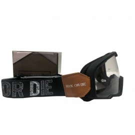 ORIGINE MOTORCYCLE GOGGLES ROCK OR DIE BLACK VINTAGE
