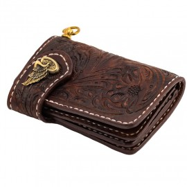 70S WALLET SHORTY ENGRAVED BROWN