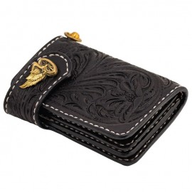 70S WALLET SHORTY ENGRAVED BLACK