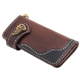 CARTERA 70S 2 TONOS MARRON