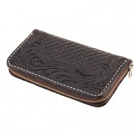 CARTERA 70S LARGA ENGRAVED NEGRA WOMAN