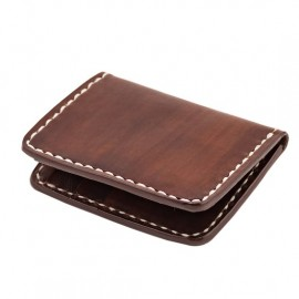 CARTERA 70S MARRON FLAT POCKET CREDIT CARD HOLDER