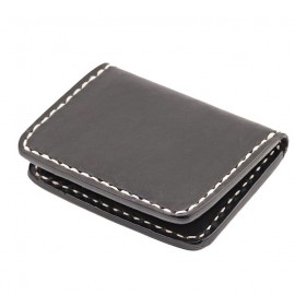 CARTERA 70S NEGRA FLAT POCKET CREDIT CARD HOLDER