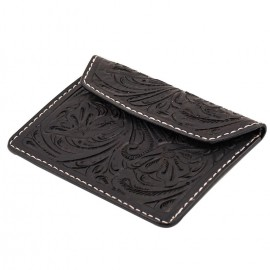 CARTERA 70S NEGRA ENGRAVED BIKE DOCUMENT HOLDER