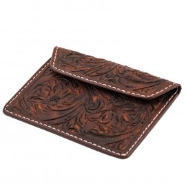 CARTERA 70S ENGRAVED MARRON BIKE DOCUMENT HOLDER