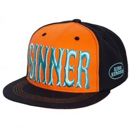 GORRA KING KEROSIN SINNER 3D CAP ORANGE/BLACK