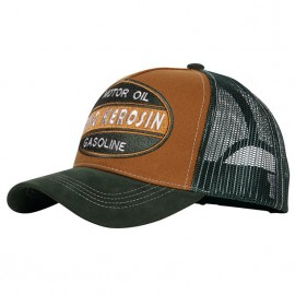 GORRA KING KEROSIN MOTOR OIL GASOLINE TRUCKER CAP BROWN/GREEN