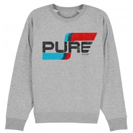 FLAG LOGO BASIC HEATHER GREY SWEATSHIRT