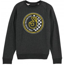 OK BASIC CIRCLE DARK GREY SWEATSHIRT