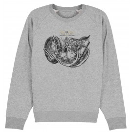 MOTO DRIVE 2 HEATHER GREY SWEATSHIRT