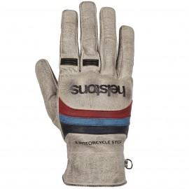 HELSTONS BORA HIVER GLOVES BEIGE BLUE RED