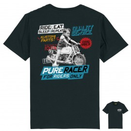 RIDE AND REPEAT BLACK T-SHIRT