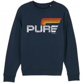 SUDADERA LOGO STRIPES 2 BLUE NAVY
