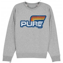 SUDADERA LOGO STRIPES GREY