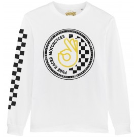 OK CIRCLE CHECKERS WHITE JERSEY