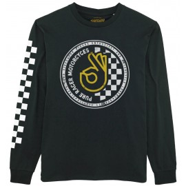 OK CIRCLE CHECKERS BLACK JERSEY