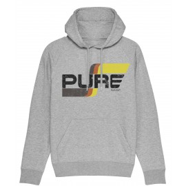 FLAG LOGO BASIC HEATHER GREY HOODIE