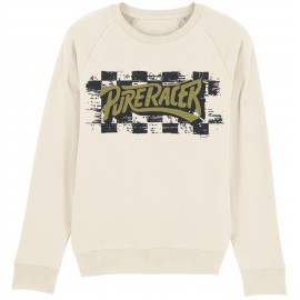 LOGO CHECKERS CREAM SWEATSHIRT