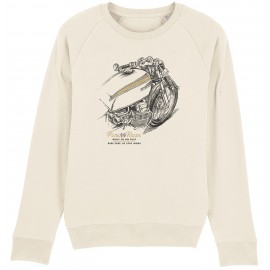 MOTO DRAW 1 CREAM SWEATSHIRT