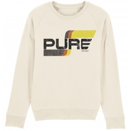 FLAG LOGO BASIC OFF WHITE SWEATSHIRT