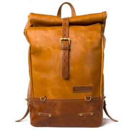 TRIP MACHINE BACKPACK PANNIER CLASSIC ROLL TOP CAMEL