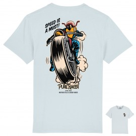 PURERACER SPEED IS A MUST BABY BLUE T-SHIRT