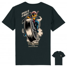 PURERACER SPEED IS A MUST BLACK T-SHIRT