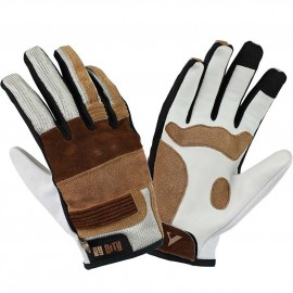 BY CITY FLORIDA MAN SPECIAL EDITION GLOVES WHITE/BROWN