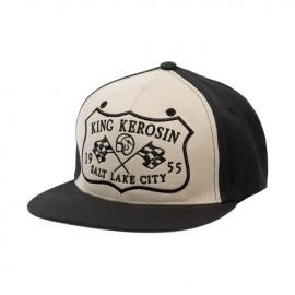 KING KEROSIN SALT LAKE CITY TRUCKER CAP BLACK/OFFWHITE
