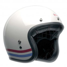 Casco Bell custom 500 Stripes Blanco