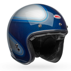 casco Bell custom 500 Gloss Candy Blue carbon jager