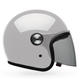 casco Bell Riot blanco brillo